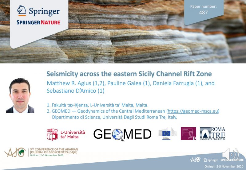 Click image to watch presentation of Seismicity across the eastern Sicily Channel Rift Zone